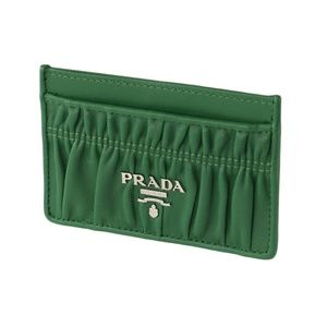 Prada Quilted Leather Card Holder Wallet